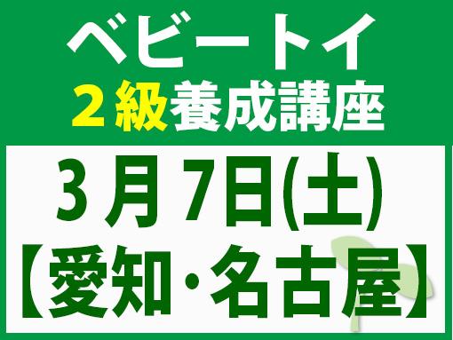 【愛知・名古屋市】3月7日(土)「魔の2歳」に育てない木のおもちゃと絵本の与え方_ベビートイ・インストラクター2級資格講座