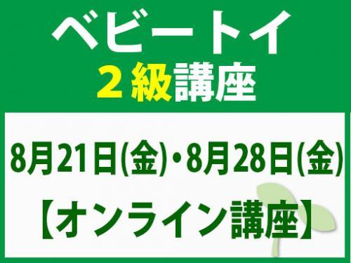 【オンラインライブ講座】8月21日(金)・8月28日(金) ベビートイ2級講座