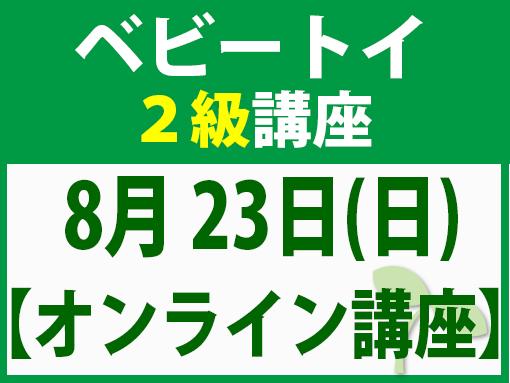 【オンラインライブ講座】8月23日(日)ベビートイ2級講座