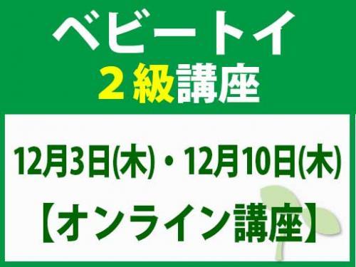 【オンラインライブ講座】12月3日(木)・12月10日(木) ベビートイ2級講座