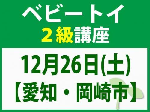 【愛知・岡崎市】12月26日(土) ベビートイ2級講座