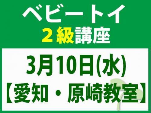 【愛知・原崎教室】3月10日(水) ベビートイ2級講座