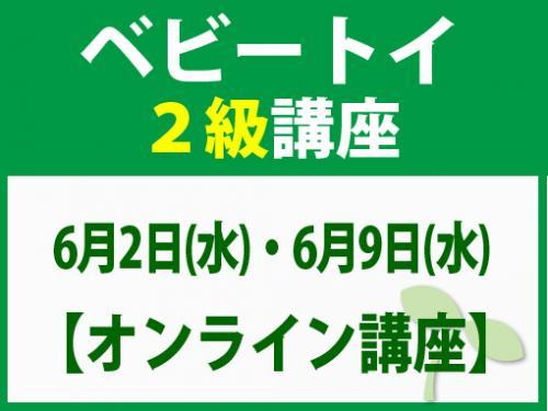 【オンラインライブ講座】6月2日(水)・6月9日(水) ベビートイ2級講座