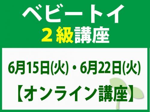 【オンラインライブ講座】6月15日(火)・6月22日(火) ベビートイ2級講座
