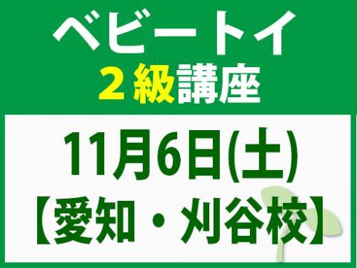 【愛知・刈谷校】11月6日(土) ベビートイ2級講座