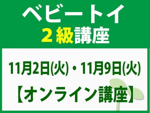 【オンラインライブ講座】11月2日(火)・11月9日(火) ベビートイ2級講座