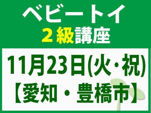 【愛知・豊橋市】11月23日(火・祝)ベビートイ2級講座