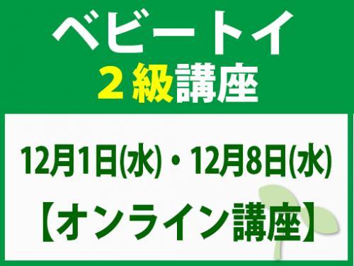【オンラインライブ講座】12月1日(水)・12月8日(水)ベビートイ2級講座